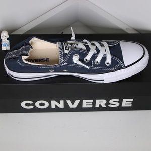Navy Blue Converse Shoreline All Star Slip Ons